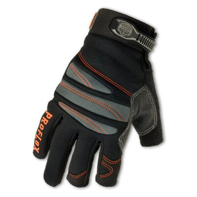 Ergodyne ProFlex 720 Trades with Touch Control Gloves in Black