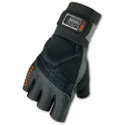 Ergodyne ProFlex 910 Impact Gloves with Wrist Support in Black