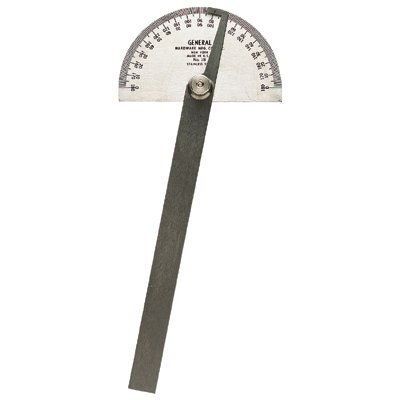 General Tools Stainless Steel Round Head Protractors