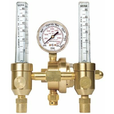 Gentec Flowmeters/Regulators - gw 33-196ar-60 dual flowmeters  ar/co2  gca580