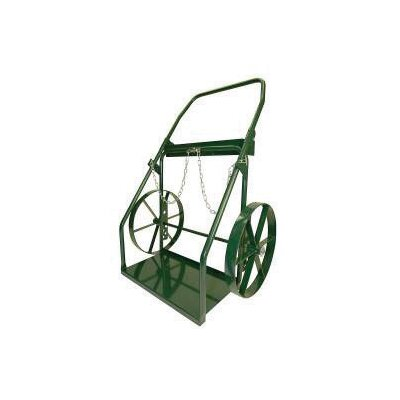 "Harper Trucks 300 Series Continuous Handle Hand Truck For Medium And Large Cylinders With 18"" Steel Wheels"