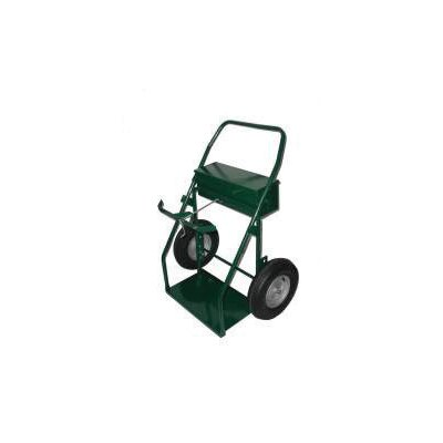 "Harper Trucks 300LT Series Continuous Handle Hand Truck With 16"" Pneumatic Wheels And Lock Top Tool Box"