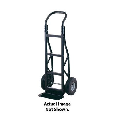 "Harper Trucks PGC Series Nylon Hand Truck With Continuous Handle, Steel Base Plate And 10"" Solid Rubber Wheels"