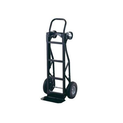 "Harper Trucks PGD Series Nylon Senior Dual Platform/Hand Truck With 10"" Pneumatic 2-Ply Tubeless Wheels And 5"" Poly Swivel Casters"