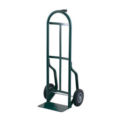 "Harper Trucks 54T Series Pin Handle Steel Hand Truck With 8"" Offset Poly Hub Solid Rubber Wheels"