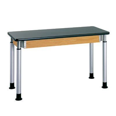 Diversified Woodcrafts Adjustable Height Science Table With Plastic Laminate Top