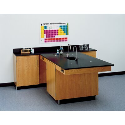 Diversified Woodcrafts Perimeter Workstation With Door And Sink & Fixtures