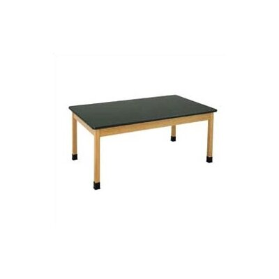 Diversified Woodcrafts Plain Apron Science Table With Epoxy Resin Top