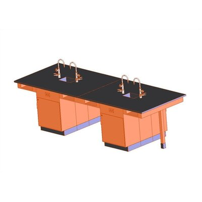 Diversified Woodcrafts Double Faced 8 Student Island Workstation