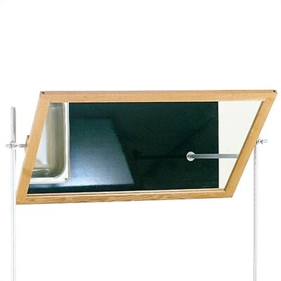 Diversified Woodcrafts Optional Mirror for Mobile Instructor's Desk With Drawers and Center Storage