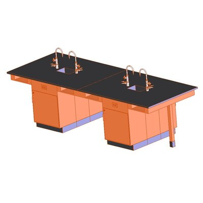 Diversified Woodcrafts Eight Station Service Center with Sink