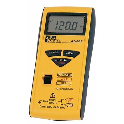 Ideal Industries 600 Series Pocket Meters - digital multimeter pocket size