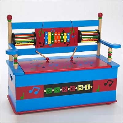 Levels of Discovery Musical Kid's Storage Bench