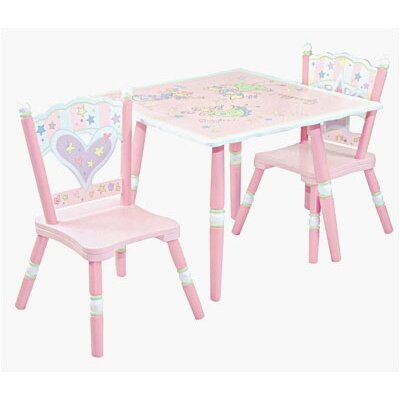 Fairy Wishes Kids' 3 Piece Table and Chair Set
