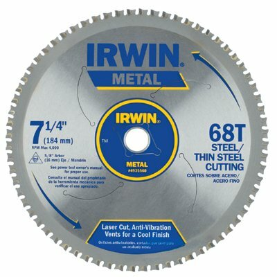 "Irwin Irwin - Metal Cutting Circular Saw Blades 7 1/4""  68T Mc - Thin Steel: 585-4935560 - 7 1/4""  68t mc - thin steel"