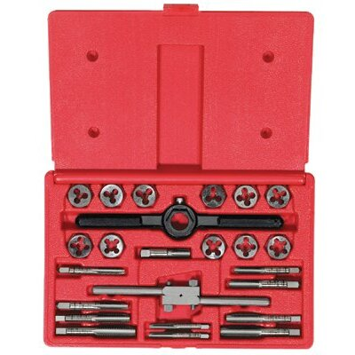 Irwin High Carbon Steel 25-Piece Tap & Solid Round Die Sets - set tap&die 1/4-1/2 1 rdhanso
