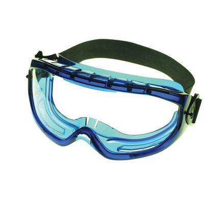 Jackson XTR™ Chemical Splash Impact Goggles With Blue Flexible Frame And Clear Polycarbonate, Anti-Fog Lens