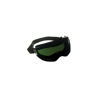 Jackson XTR™ Chemical Splash Impact Goggles With Black Flexible Frame, IR Shade 5 Green Polycarbonate, Anti-Fog Lens And Flame Retardant Headband (6 Per Box)