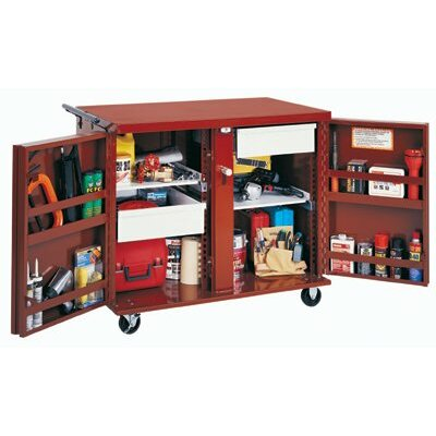 "Jobox Rolling Work Benches - rolling work bench w/two2-1/2""d.drawers&2shelves"