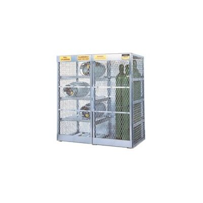 "Justrite X 60"" X 32"" Combo Cylinder Storage Locker For Flammables (Capacity 8 Horizontal And 10 Vertical Cylinders)"