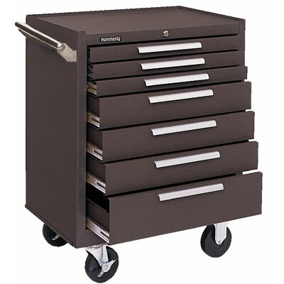 Kennedy Industrial Series Roller Cabinets - 00619 roller cabinet 8 drawer red