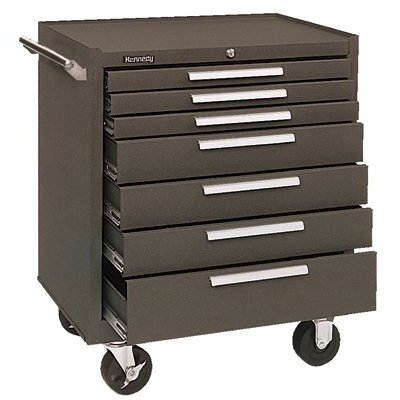 Kennedy Industrial Series Roller Cabinets - 00071 roller cabinet 7 drawer brown