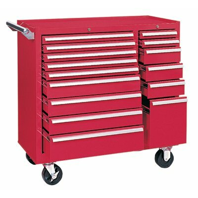 Kennedy Maintenance Carts - 64315 maint. cart 15 drawer w/ball bearing sld