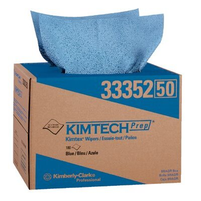 Kimberly-Clark Kimberly-Clark Professional - Kimtech Prep Kimtex Wipers Kimtex Surface Preparation Towels Blue 180/Box: 412-33352 - kimtex surface preparation towels blue 180/box