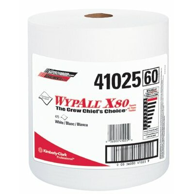 Kimberly-Clark WypAll® X80 Shop Towels - wypall x80 shop pro jumbo roll white 475 per rol