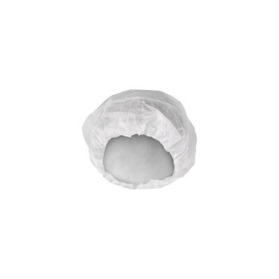 "Kimberly-Clark White KleenGuard™ A10 KOMFORTGUARD® Light Duty 21"" Pleated Latex Free Bouffant Cap (200 Per Package, 3 Packages Per Case)"