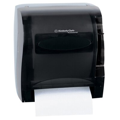 "Kimberly-Clark 13"" In-Sight Lev-R-Matic Roll Towel Dispenser in Smoke / Gray"