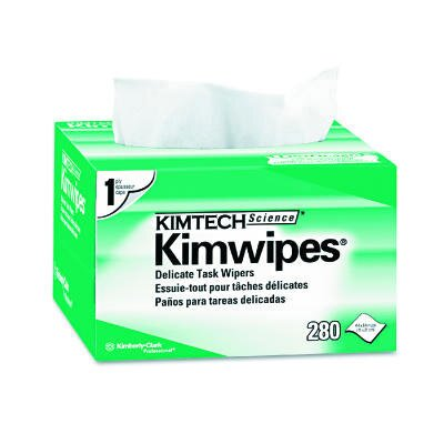 Kimberly-Clark Kimtech Science Kimwipes Delicate Task Wipers, 280/Box in White