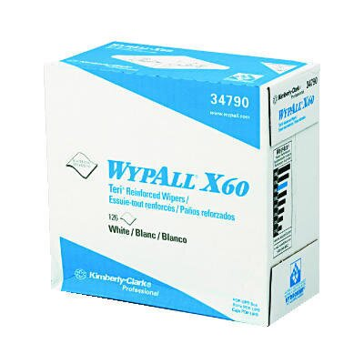 Kimberly-Clark Wypall X60 Wipers, Pop-Up Box in White
