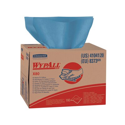 Kimberly-Clark Wypall X80 Wipers Brag Box in Blue