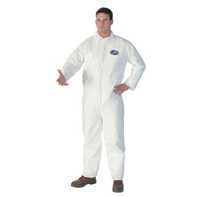 Kimberly-Clark Kleenguard A40 2X-Large Elastic-Cuff Hood and Boot Coveralls in White