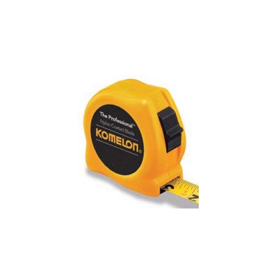 "Komelon USA Professional Series Power Tapes - 16'x3/4"" yellow case steel power tape measure"