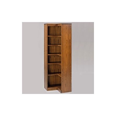"Hale Bookcases 200 Signature Series 72"" H Six Shelf Inside Corner Bookcase"