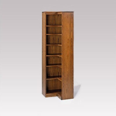 "Hale Bookcases 200 Signature Series 84"" H Seven Shelf Inside Corner Bookcase"