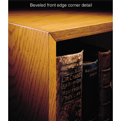 Hale Bookcases 1100 NY Series 36&quot; H Three Shelf Outside Quarter Round Bookcase