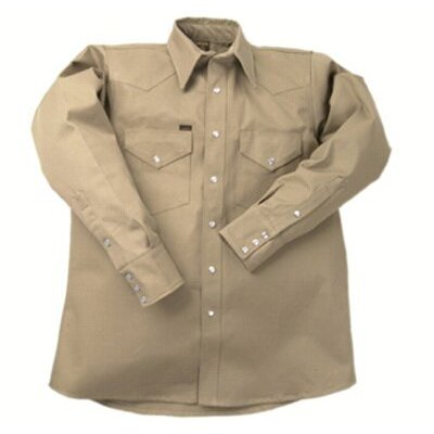 Lapco 950 Heavy-Weight Khaki Shirts - la ls-19 m 950 khaki