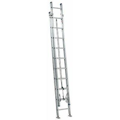 Louisville Ladder AE2000 Series Louisville Colonel Aluminum Extension Ladders - 21' max two section extension ladder