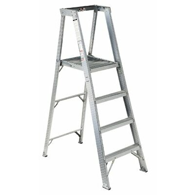 Louisville Ladder AP1000 Series Master Aluminum Platform Step Ladders - 16' aluminum platform step ladder