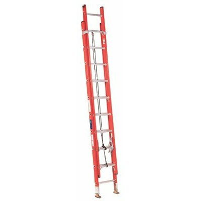 Louisville Ladder FE3200 Series Fiberglass Channel Extension Ladders - 40' 2-section fiberglassextension ladder 35'