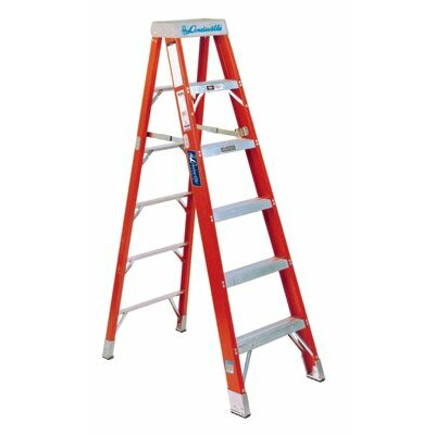 Louisville Ladder FS1400HD Series Brute™ 375 Fiberglass Step Ladders - 6' brute 375 fiberglassstep ladder