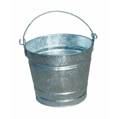 Magnolia Brush Galvanized Pails - 10qt galvanized water pail