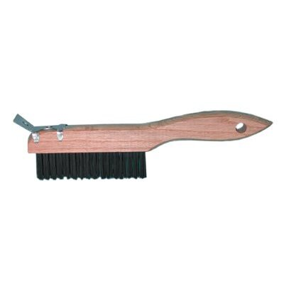 Magnolia Brush Shoe Handle Wire Scratch Brushes - ors wire brush w/scrapper same as 4-sc