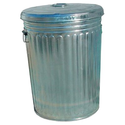 <strong>Magnolia Brush</strong> Pre-Galvanized Trash Cans - 20 gallon galvanized trash can with lid