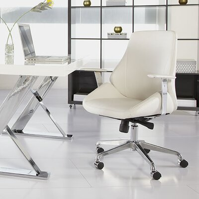 Eurostyle Bergen Low-Back Leatherette Office Chair with Arms