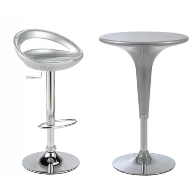 Eurostyle Agnes Adjustable Height Pub Table with Optional Stools