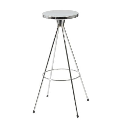 Eurostyle Caroline Swivel Barstool in Chrome